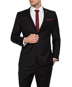 Slim Fit Move Suit Jacket Black