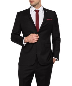 Van Heusen Mens Move Slim Jacket Black