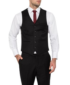 Van Heusen Mens Move Slim Vest Black