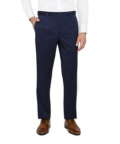 Classic Relaxed Fit Business Trousers Navy Diamond Texture