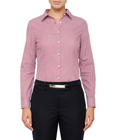 Womens Classic Fit Shirt Yarn Dyed Stripe