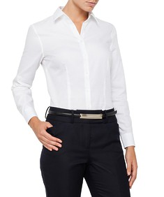 Womens Classic Fit Shirt Mini Herringbone