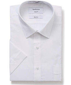Classic Relaxed Fit Short Sleeve Shirt White