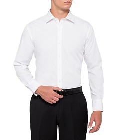 Mens Euro Fit Shirt Solid White
