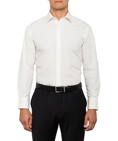 Mens Euro Fit Shirt Solid Ivory