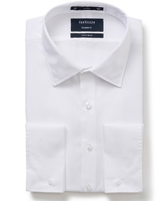 Euro Tailored Fit Cotton Shirt White