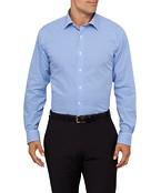 Mens Euro Fit Shirt Blue Med Check