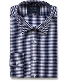 Euro Tailored Fit Shirt Blue Medium Check