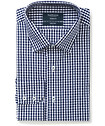 Mens Euro Fit Shirt Contrast Medium Check