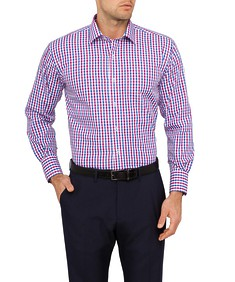 Mens Euro Fit Shirt Marina Check