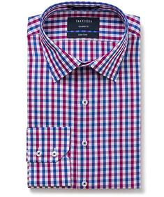 Euro Tailored Fit Shirt Marina Check