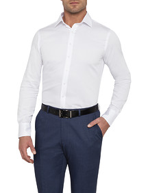 Mens Euro Fit Shirt Dobby Texture