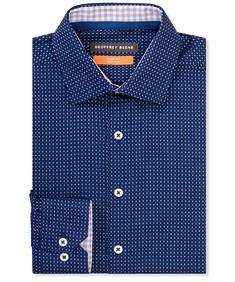 Slim Fit Shirt Rich Navy Circle Print