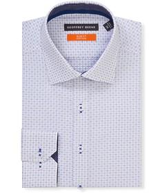 Slim Fit Shirt White Star Cross Print