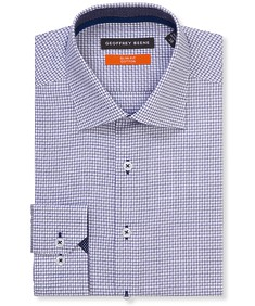 Slim Fit Shirt Navy Square Check