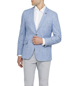 Men's Casual Jacket Ink Slub Yarn