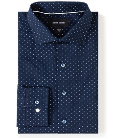 Slim Fit Shirt Indigo Blue Spot