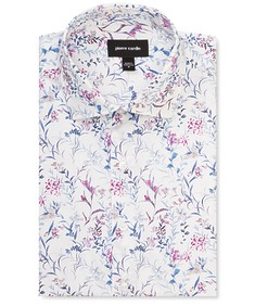 Slim Fit Shirt Watercolour Garden Print