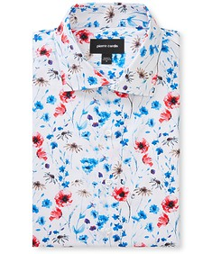 Slim Fit Shirt Red Poppies
