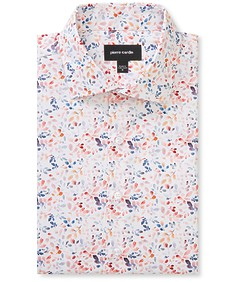 Slim Fit Shirt Mixed Leaves