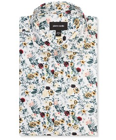 Slim Fit Shirt Yellow Roses