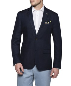 Casual Jacket Navy Birdseye