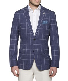 Casual Jacket Navy Window Check