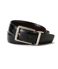 Mens Reversible Belt Curved Rectangle Buckle