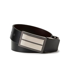 Mens Reversible Belt Detailed Solid Buckle