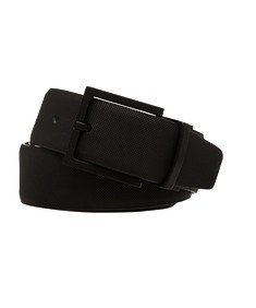 Belt Black Rough Texture Etched Buckle