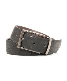Belt Black Textured with Gunmetal Buckle