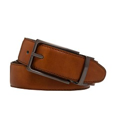 Belt Tan Smooth Texture Gunmetal Buckle