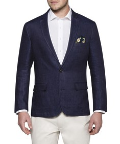 Casual Jacket Navy Linen