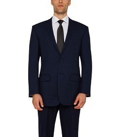 Classic Relaxed Fit Suit Jacket Ink Birdseye