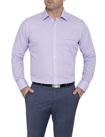 Mens Classic Fit Shirt Lilac Retro Check