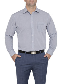 Mens Classic Fit Shirt Black and White Check
