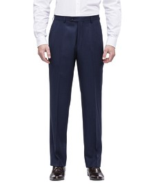 Classic Relaxed Fit Suit Pant Ink Birdseye