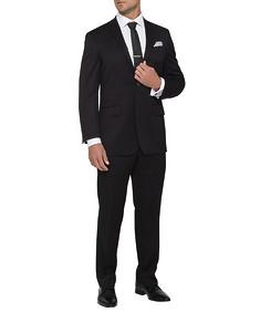 Mens Classic Fit Nested Suit Black