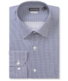 Classic Relaxed Fit Shirt Dark Navy Circle Print