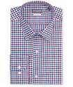 Classic Relaxed Fit Shirt Grape Wine Blue Gingham
