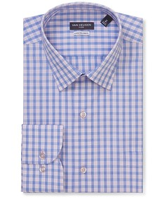 Classic Relaxed Fit Shirt Blue Outline Check