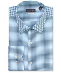 Classic Relaxed Fit Shirt Aqua Blue Check
