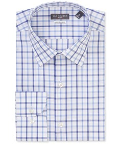 Classic Relaxed Fit Shirt Blue Tone Checks