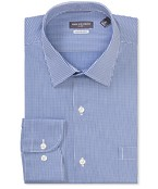 Classic Relaxed Fit Shirt Navy Tone Check
