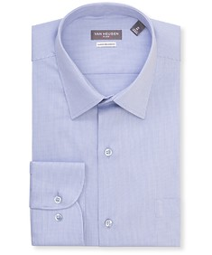 Classic Relaxed Fit Shirt Navy Vertical Pinstripes