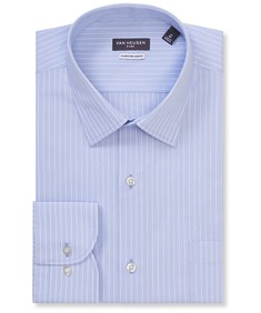 Classic Relaxed Fit Shirt Blue Pencil Stripe