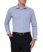 Van Heusen Classic Fit Shirt Blue Mini Check