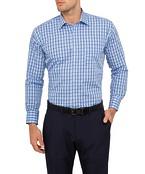 Mens Classic Fit Shirt Blue Large Check