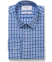 Mens Classic Fit Shirt Blue Large Check