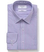 Classic Relaxed Fit Shirt Lilac Check